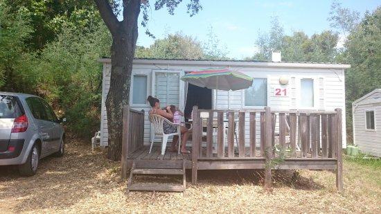 Le Parc des Chênes : Quelques photos du Mobil home, du marché (dimanche matin) de la vue, de la piscine, et d'une cri