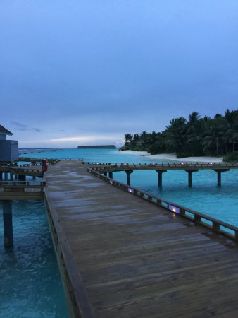 View from the from of our water villa
