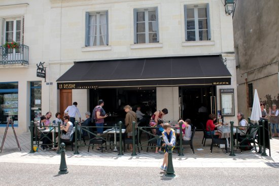 La Reserve: The front of the restaurant, limited outside seating!