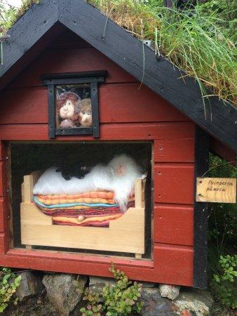 Stord Municipality, Norway: Litt av den koselige eventyrløypa i Landåsen, Leirvik, Stord