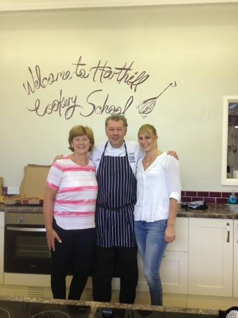 Harthill Cookery School : My daughter and I with Brian