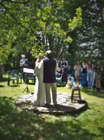 Morval, UK: Handfasting ceremony
