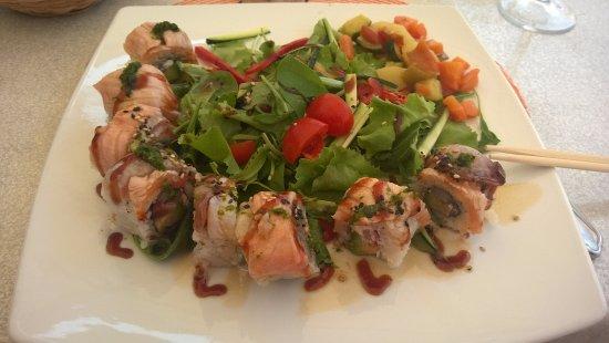 Ispra, Italien: Sushi arcobaleno