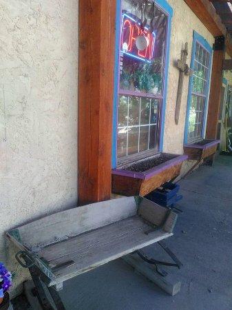 Cafe Rosa Mystica, San Luis, Colorado's oldest town - July 2016. Delicious strudel, Italian coff