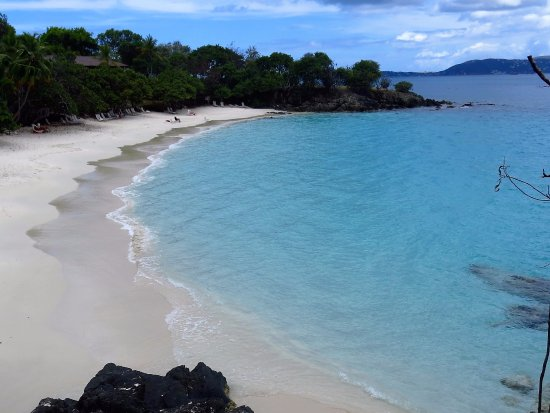 Caneel Bay Beach: Caneel from the cliffs