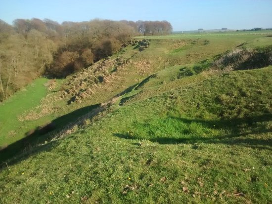 Wroughton, UK: The contours of the hillfort