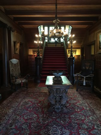 Rockcliffe Mansion: Front entryway & grand staircase.