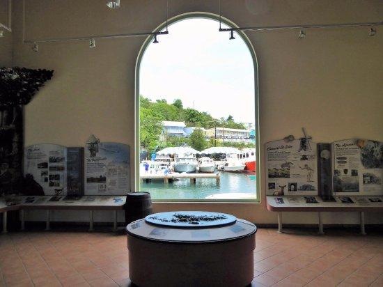 Cruz Bay Visitor Center: Window to Cruz Bay