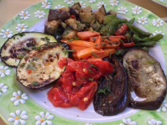 Schiazzano, Włochy: Légumes de saison grillés.