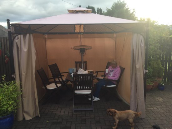 Albannach Bed and Breakfast: The outside heated gazebo brilliant if you have a dog and weather isn't great