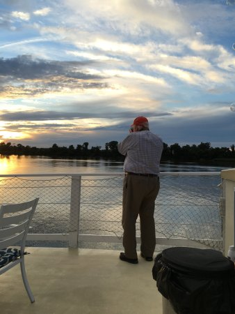 Chestertown, MD: Early sunset on the Chester River, photo from the River Packet