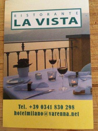 Ristorante La Vista: This actually was our table--wow!