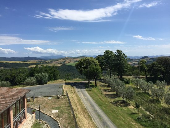 Borgo della Speranza: View from our 2nd floor apartment.