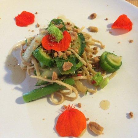 Longhope, UK: Fennel and noodle Thai salad