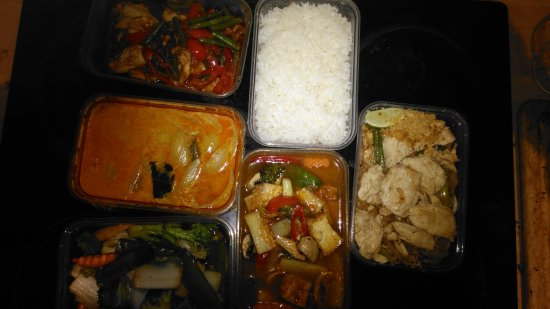 Thai Room : £42 for 5 small containers & a rice. delicious though.
