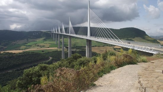 Millau viaduct from the hilltop viewpoint Picture of Millau