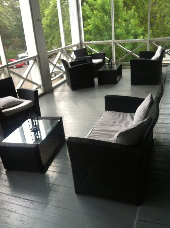 The Charles Hotel: 2nd Floor Veranda - perfect for R &R