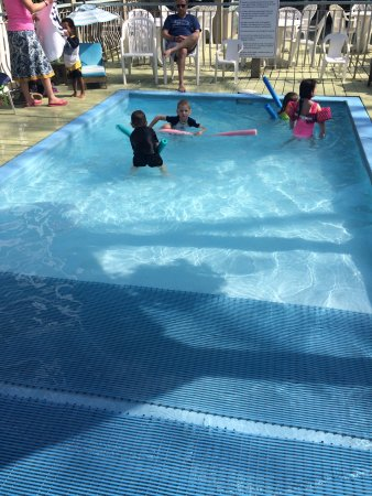 lots of pools! Including shallow kids wading pool and deep pool ...
