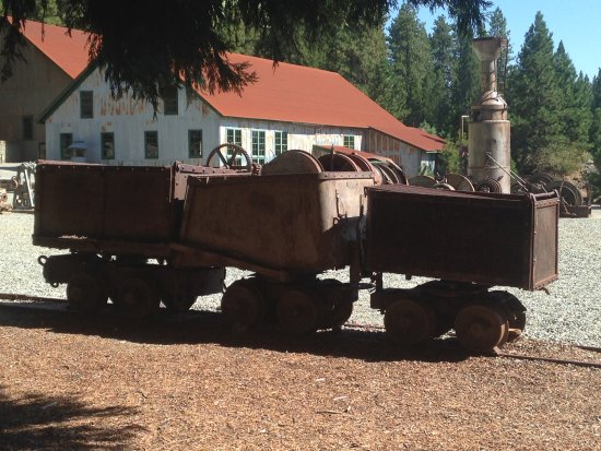 Grass Valley, CA: Mine yard with Ore Carts