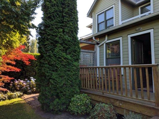 La Conner, WA: Our private deck