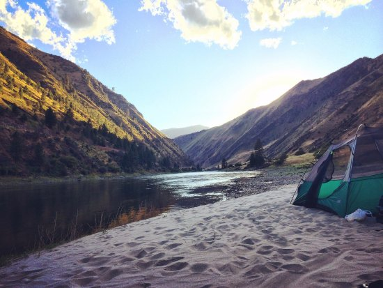 Riggins, ID: One of the beaches we camped at
