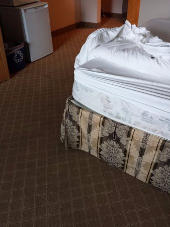 BEST WESTERN Chelsea Inn: Ripped sheet, and it doesn't fit the extremely thin mattress.