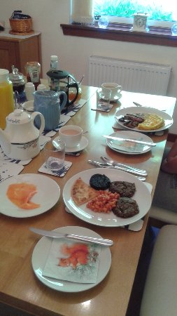 Ardrishaig, UK: Mandy's lovely breakfast spread