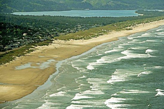 Manzanita Beach as seen from overlook