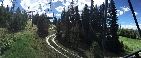 Winter Park Resort: Ride up to the top of the slide