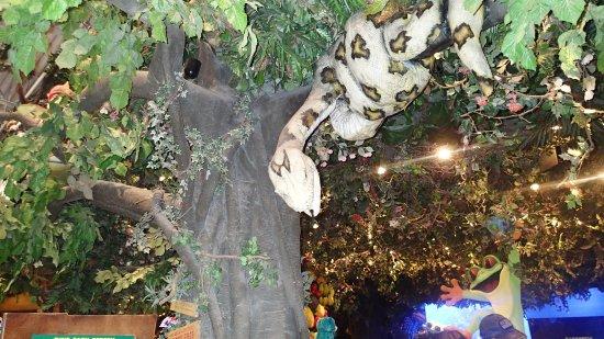 Ontario Mills: Snake model rainforest cafe