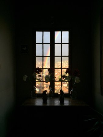 Don Bosco Hotel: View from the hallway window