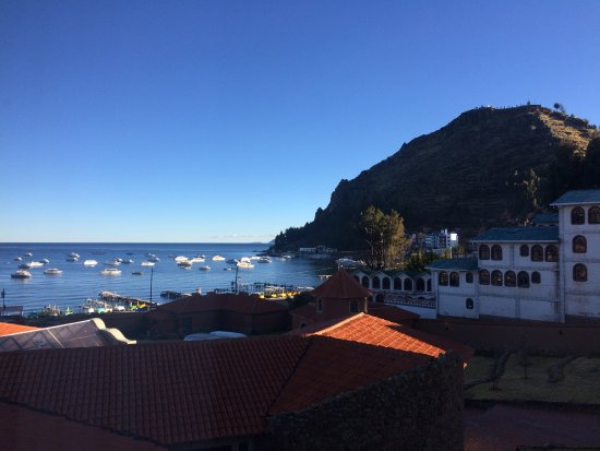 Hotel Rosario Lago Titicaca: View from the room.