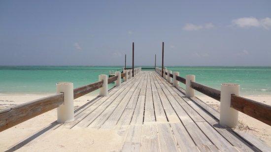 The pier at Horsestable Beach, North Caicos