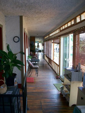 Alameda's Hot Springs Retreat: covered porch
