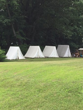 Soldier's tents at Stony Point State Park