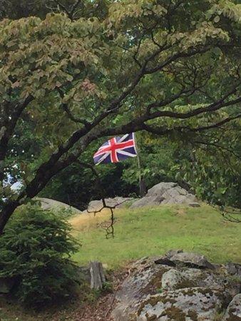 British Flag flying at Stony Point State Park