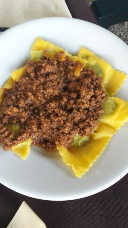 Campagnatico, Italy: Tortelli al ragù di cinghiale