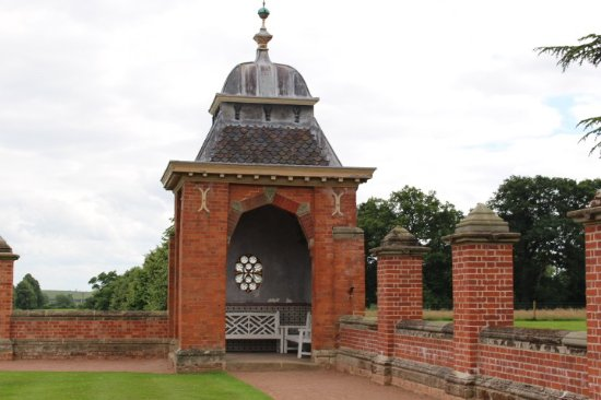 One of the pavilions at Hanbury Hall