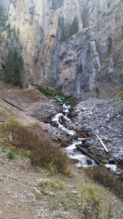 Afton, WY: The falls as they are beginning to shut down again after reaching the base on the way down from