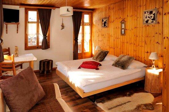Les Hauderes, Швейцария: chambre