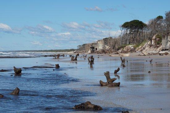 Bribie Island, Australien: Fort Bribie after the storms in june 2016