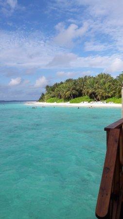 Fihalhohi Island Resort: View from the Water villa patio