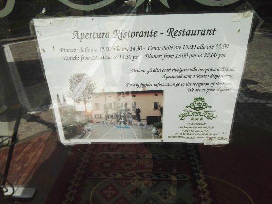 Mordano, Itália: Ingresso