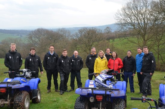 Craswall, UK: The quad bikes are a great and fun way to get around the site