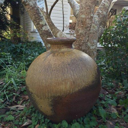 Svend Bayer pot in the garden
