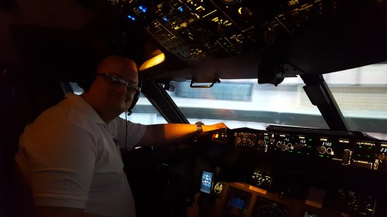 Rossendale, UK: me on the flight deck