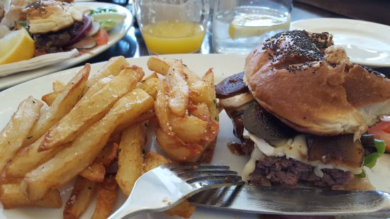 The Garden Lounge & Patio: My burger...