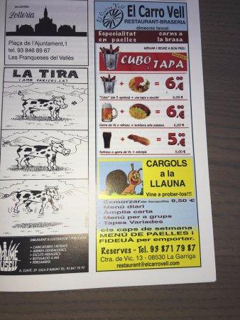 La Garriga, Spanien: PUBLICIDAD ENGAÑOSA