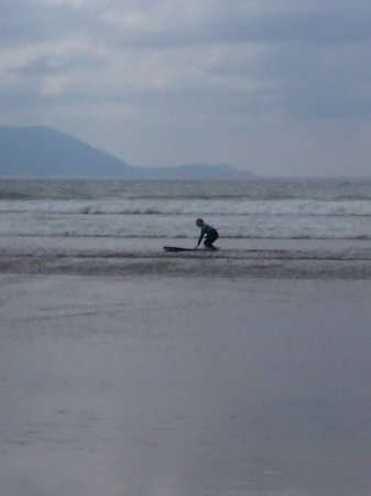 Inch, Ireland: Just about to stand on the board!