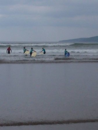 Inch, Ireland: All set to surf with instructor Tim